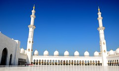 Sheikh Zayed Grand Mosque, Abu Dhabi U A E (mamasain) Tags: travel cloud art architecture outdoors gold dubai gulf minaret muslim islam prayer religion ngc fine uae middleeast visit carving abudhabi destination visiting oman minarets islamic touristic  luxurious coran        architecture landmark sheikhzayedgrandmosque  szgmc shaikzayedgrandmosque