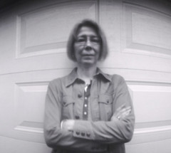 Pinhole Self-Portrait (by garage), Jan. 2012 (squaremeals) Tags: selfportrait long exposure photographer pinhole papernegative homemadecamera