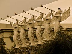 Trumpeting Angels, twittering birds... (2composers) Tags: vegas birds angel lasvegas roman antique angels trumpets sculptures gawdy supershot twittering