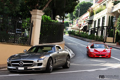 It's A Hard Life (Raphaël Belly Photography) Tags: red paris car de french rouge photography eos grey mercedes hotel riviera photographie duo ferrari casino montecarlo monaco 63 sl belly exotic 7d passion 50 raphael rb fairmont spotting amg supercars combo fifty f50 raphaël principality grise larvotto worldcars