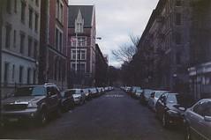 (nkeka) Tags: street nyc newyorkcity people newyork streets cars film nikon harlem grain