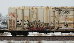 Phrite (quiet-silence) Tags: railroad art train graffiti railcar unionpacific graff freight reefer phrite armn fr8 wafact armn761715