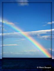 Arc-en-ciel au-dessus de la mer (bleumarie) Tags: mer fuji bleu ciel nuage roussillon couleur azur arcenciel méditerranée saintemarie catalogne pyrénéesorientales suddelafrance bleumarie mariebousquet photomariebousquet