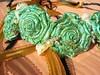 Aqua Rose head wreath (ClandestineArt) Tags: wedding gypsy wicca handfasting pagan wiccan fabricflowers headwreath fabricroses handfastingcord
