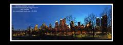 1-09-2012 NYC CENRTAL PARK SOUTH FROM CENTRAL PARK DUSK PAINT (rvc845) Tags: nyc panorama russell panoramic mcdonalds timessquare lincolncenter westsidestory russcusick russellcusickgallery