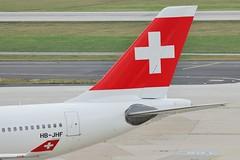 "Swiss International Air Lines Airbus A330-343E tail HB-JHF  MSN 1089 ""Bern"" (Jimmy LWH) Tags: aircraft tail airbus flugzeug a330 avion lx sigma100300mm vliegtuig swr dus staralliance airbusa330 aeroplano a330300 eddl airbusa330300 ex100300f4 空中客车 空客 a330343e hbjhf msn1089 星空联盟 lwh1988 瑞士国际航空 23jan2012eddl"