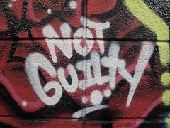 Not guilty graffiti