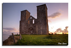 2012-366-09 [Placeholder image 5] Reculver Towers HDR ........ (pete stone) Tags: morning sunrise kent day9 hdr reculver canoneos5d reculvertowers skyascanvas