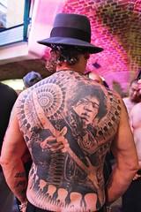Jimmy Hendrix RIP (siberfi) Tags: blackandwhite london fashion tattoo ink guitar rip jimmy guitars tattoos convention hendrix legend jimmyhendrix londonist 2011 londontattooconvention tobaccodocks