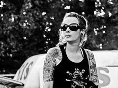 Tattooed Girl (tsdtsdtsd) Tags: bw topv111 tattoo topv555 topv333 candid 100v10f topv777