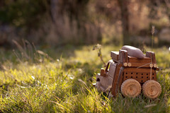 Eco off-roading. The wooden Landrover (Mat Robertshaw) Tags: game car toy wooden jeep malawi humvee landrover humber woodentoy woodencar