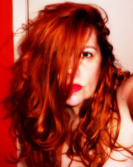 tonight. 2.2.12 (Manhattan Girl) Tags: selfportrait eye redhead stare