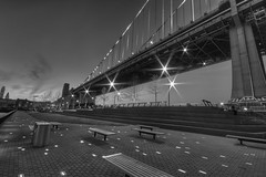 IMG_7460 (Rob Dietrich Photography) Tags: street longexposure nightphotography bridge blackandwhite bw building philadelphia water night canon relax pier hdr xsi 450d canon450d canonxsi
