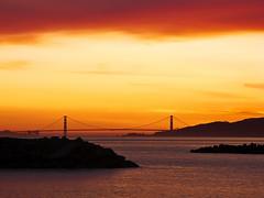 Golden Gate Sunset (Karen Andrea Photography) Tags: ocean sanfrancisco california bridge sunset sky orange yellow canon bay pacific marin richmond goldengatebridge marinheadlands notherncalifornia canong9 pointisabelpark ebparksok