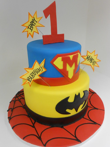Superhero Birthday Cake (911)