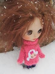 Mimi en la nieve
