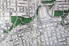 Fort Wayne IN 1945 (davecito) Tags: green map indiana 1940s planning transportation cartography geography fortwayne drafting streetmap citymap oldmap