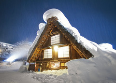 Snowpocalypse In Shirakawa-go (arcreyes [-ratamahatta-]) Tags: longexposure winter snow ice japan  lightup toyama   shirakawago gokayama gassho