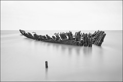 Nornen (Ben Locke (Ben909)) Tags: longexposure beach coast somerset wreck nornen