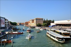 Venice : Grand Canal and Santa Lucia railway station  ( degli Scalzi ) (Pantchoa) Tags: ven