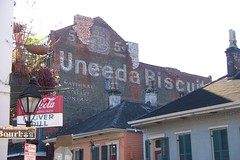 awesome ghost sign, somewhere in New Orleans French Quarter (mainmanwalkin) Tags: louisiana neworleans frenchquarter uneedabiscuit ghostsign nationalbiscuitcompany