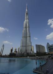 Burj-Khalifa (Dhowayan (Abu Yara)) Tags: water clouds nikon dubai burj دبي d90 dubaimall نافورة tokina1116 burjkhalifa