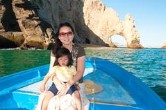 Wenji and Audrey in front of Los Arcos (Ping & Wenji) Tags: cruise mexico bajacalifornia puertovallarta cabosanlucas pingzhou carnivalsplendor wenjixu audreyzhouxiaowenzhou