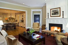 "Family Room with paneled fireplace off the kitchen • <a style=""font-size:0.8em;"" href=""http://www.flickr.com/photos/75603962@N08/6853270655/"" target=""_blank"">View on Flickr</a>"