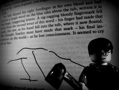 Stephen King: It 1 (Pickman's Paintbrush) Tags: blackandwhite bw macro book lego books writers writer minifigs stephenking authors testshot legography legoauthor legoauthors legowriters legowriter