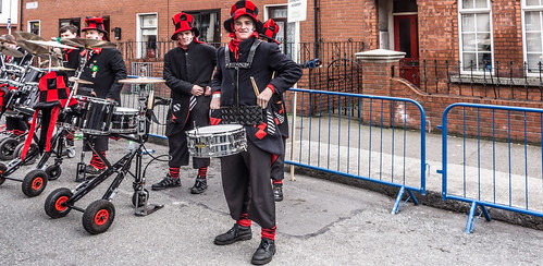 St. Patrick's Parade 2014 In Dublin - Backstage In Advance Of The Actual Parade - Guggemusik Simsegraebsler Hofstetten, Germany