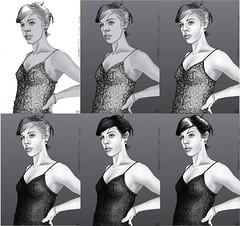 201403252319 (lindenb) Tags: portrait art face illustration sketch artwork drawing retrato femme gimp dessin fille visage onedrawingaday
