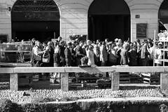A street full of people (Ondeia) Tags: street people bw milan strada riva milano bn persone fiori festa bianco nero navigli naviglio peopleoftheworld bianconere peoplefromtheworld personedalmondo