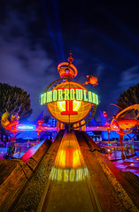 The Day After Today (Matt Valeriote) Tags: night lights glow disneyland disney tomorrowland hdr californiaadventure astroorbitor