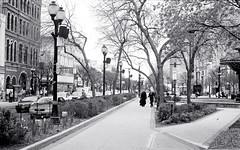 Walking Along King St. West (Bill Smith1) Tags: hc110b olympusom4 hamiltonon berggerbrf400 zuiko28f28lens filmshooterscollective spring2016 heyfsc billsmithsphotography