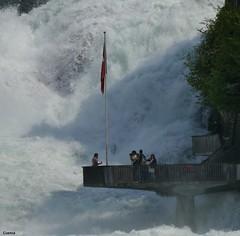 Cataratas del Rhin (salvador cuenca navas) Tags: rio agua suiza panasonic fotos aire libre balcn catarata mirador rhin presin