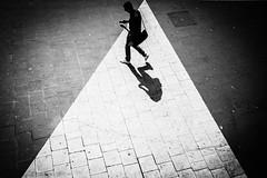 On the phone (.craig) Tags: street city travel shadow people urban blackandwhite bw birds contrast walking person pavement walk candid pigeons citylife explore