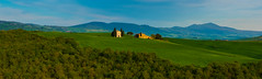 Small Church Panorama (jfusion61) Tags: italy green field landscape evening nikon farm wheat chapel tuscany siena pienza 70200mm d810