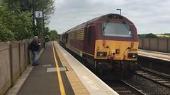 67 028 - Tamworth - 16/05/2016 (danielhodgson48) Tags: station track diesel shed railway skip tamworth class66 toton bescot class67