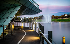 Adelaide River (saahmadbulbul) Tags: city blue light sunset sky night environmental australia adelaide serene southaustralia cityofadelaide visitaustralia visitadelaide