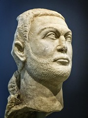Head of a Togate Statue of the Roman Emperor Diocletian from Asia Minor 295-300 CE (mharrsch) Tags: portrait sculpture chicago statue beard illinois ancient roman monarch diocletian getty artinstituteofchicago ruler emperor asiaminor gettyvilla 3rdcenturyce mharrsch
