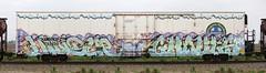 Hindue/Ghouls (quiet-silence) Tags: railroad art train graffiti railcar icicle graff d30 freight bnsf reefer fr8 ghouls endtoend dirty30 e2e a2m hindue bnsf793435