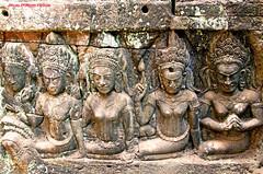 """L IMG_1204  Temple d' Angkor Vat. Terrasse du Roi Lépreux © (2)des devatas (philippedaniele) Tags: cambodge cambodia terrasse du viii siemreap angkor apsara roi angkorthom """" terrasses jayavarman devata lépreux"""