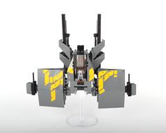Gliesian Impi33m fighter (Adrian Florea) Tags: lego space military stickers boom scifi guns spaceship moc wakkawakkawakka