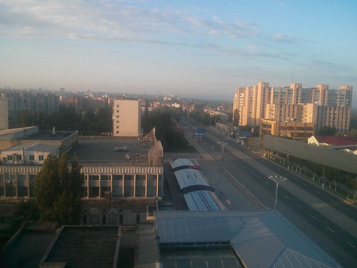 central Lugansk at sunrise