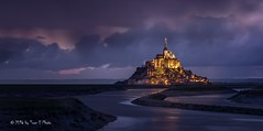 France - Mont Saint Michel by night (Toon E) Tags: longexposure france abbey rock night zeiss dark island evening sony monastery le frankrijk normandy 2016 nomandie a6000 sonyvariotessare1670mmf4