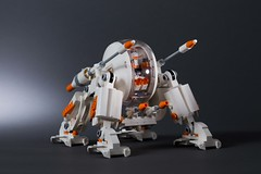 X-Pod Walker (WhiteBrix) Tags: lego xpod walker white monochrome tank collectible minifigure series 9 mecha vehicle umbaran