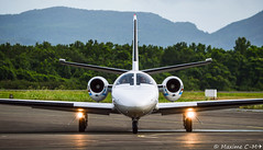 Face to Face (Maxime C-M ✈) Tags: face up private airplane photography nikon close martinique aircraft aviation transport jet sanitary to arrival nikkor cessna spotting arrivée privé 501 aérien fdf 972 madinina roulage sanitaire d3200 tfff