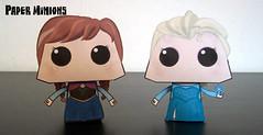 Disney: Frozen - Anna and Elsa Paper Minions Free Paper Toys Download (PapercraftSquare) Tags: anna frozen disney elsa elsathesnowqueen princessannaofarendelle paperminion
