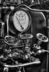 Daresbury traction engine detail 16 HD jul 16 (Shaun the grime lover) Tags: detail monochrome metal warrington traction engine fair steam machinery valve copper pressure brass gauge valves hdr boiler pipework gage daresbury halton