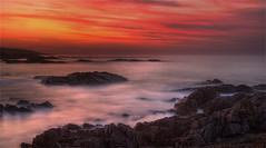 DevilsLand2 (Kiall Frost) Tags: ocean red water sunrise landscape photo rocks australia nsw hdr portstephens birubi kiallfrost
